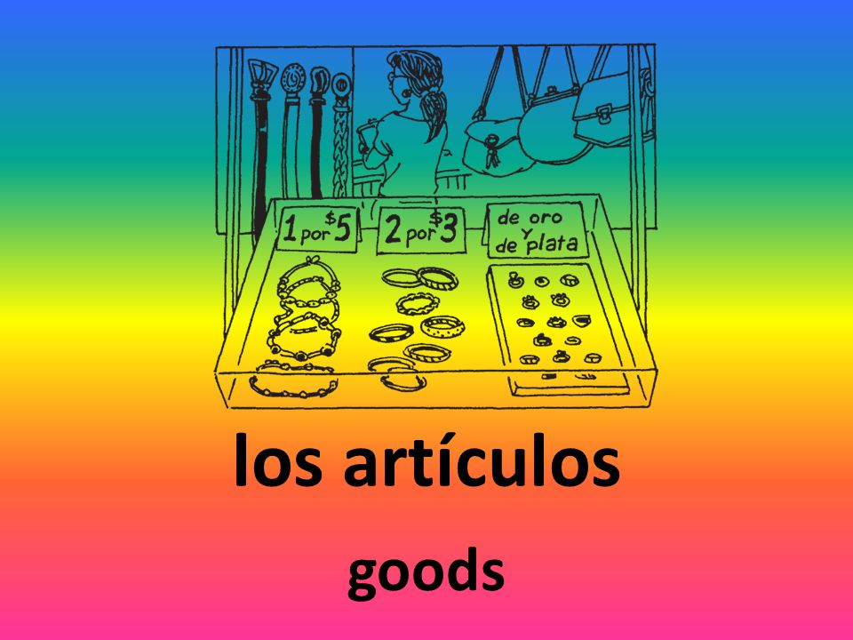 los artículos goods