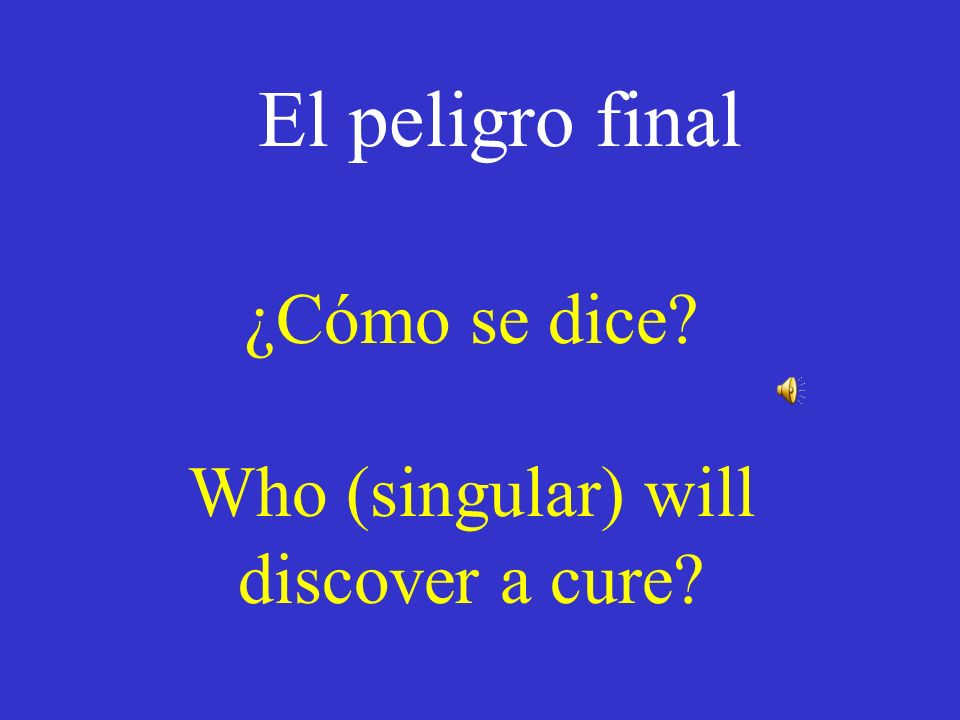 Daily Double Answer Back to the Game! ¿Te rompiste la pierna mientras corrías?