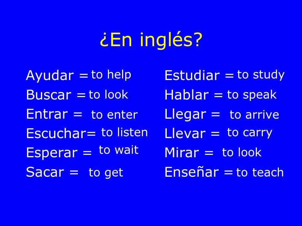 ¿En inglés.