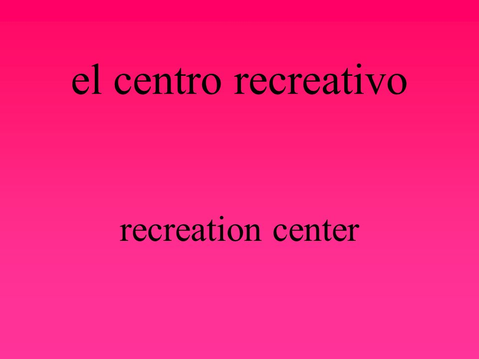 el centro de rehabilitación rehabilitation center