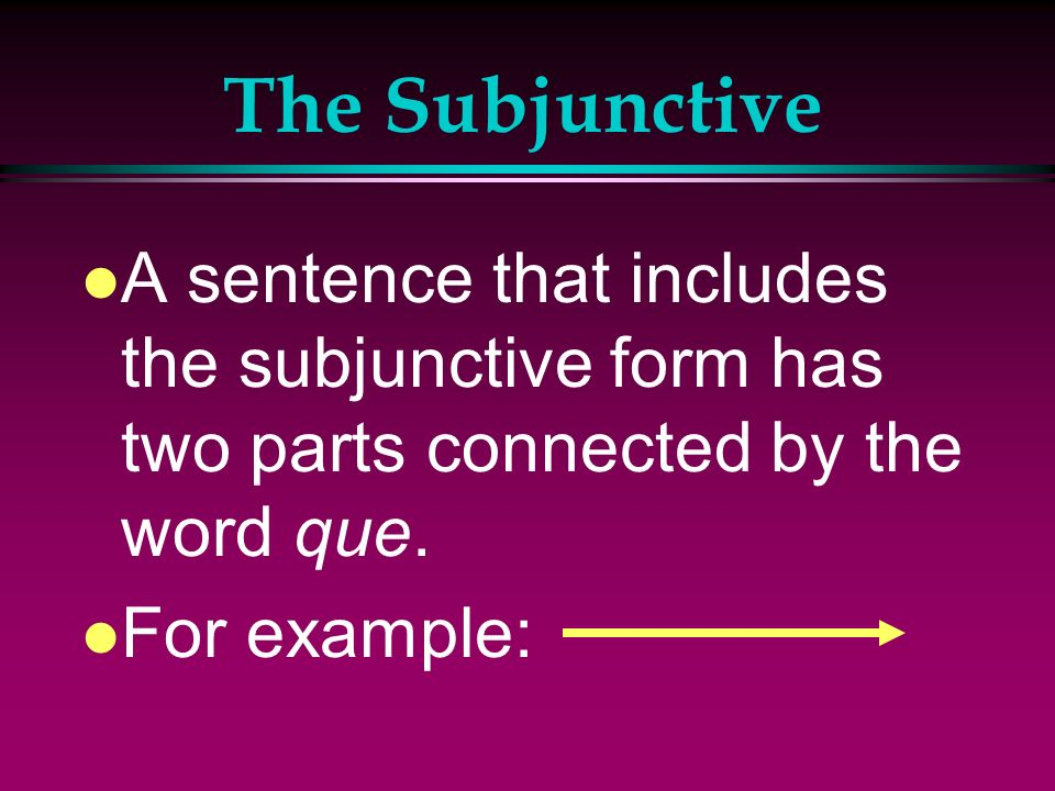 Irregular Subjunctive Verbs l Also verbs ending in –car, -gar, and –zar have a spell change in order to maintain the original sound.