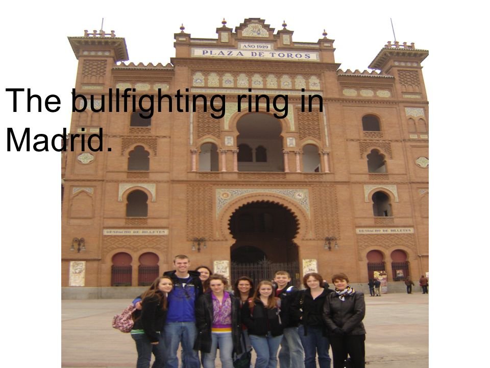 The bullfighting ring in Madrid.