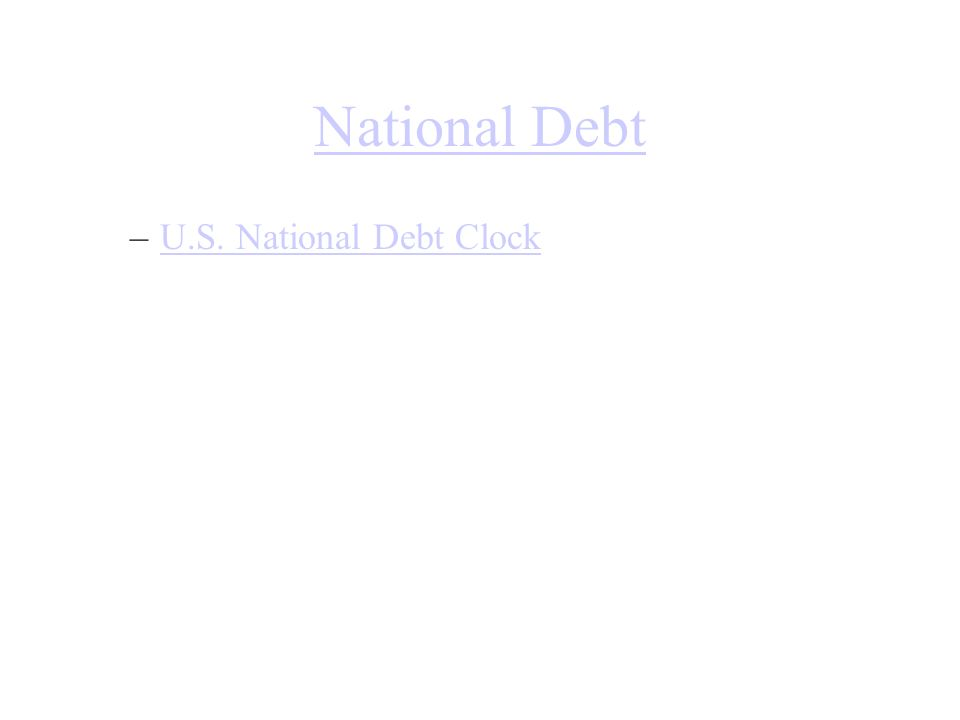 National Debt –U.S. National Debt ClockU.S. National Debt Clock