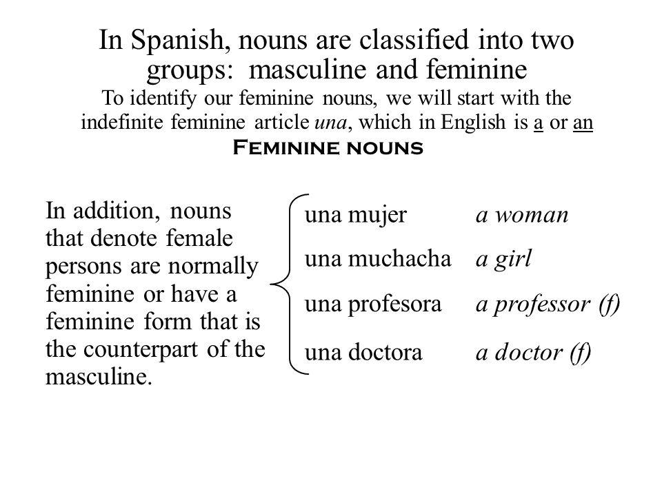Pluralization (La pluralización) If a noun ends in a consonant, we add es.