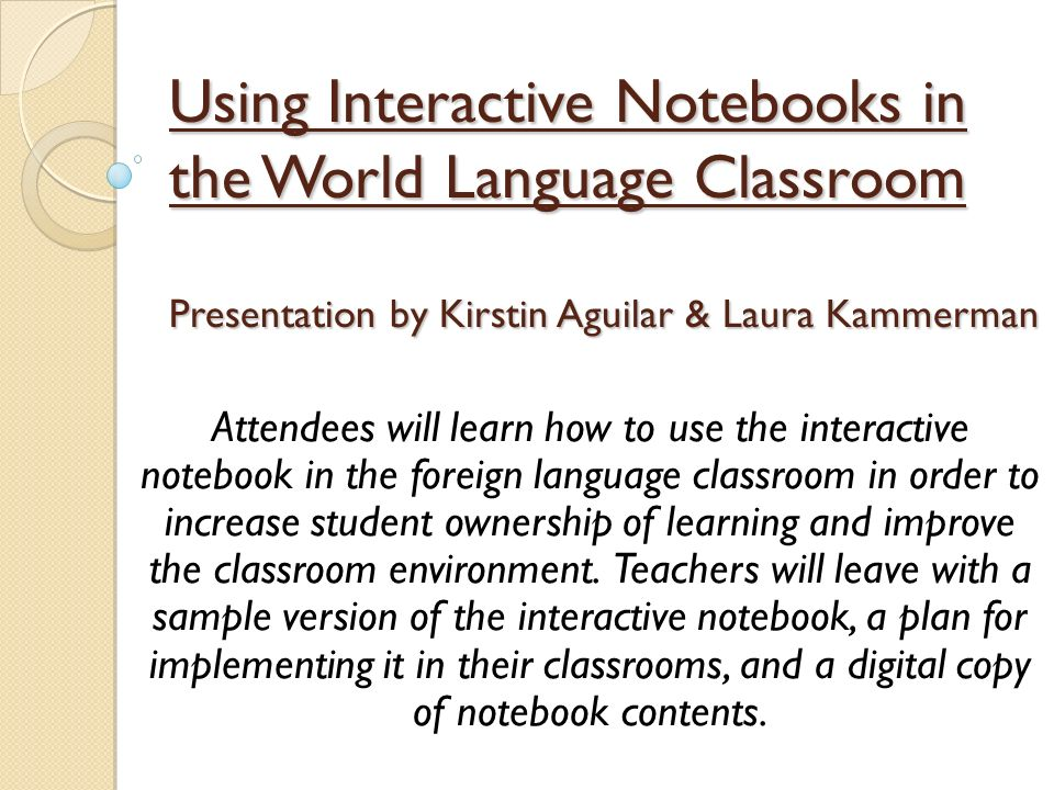 Introduction Defining the Interactive Notebook (INB) AVID Strategy Student-created, teacher-directed Organizational tool Increases student ownership Encourages creativity Makes students restate information in their own words INB can be used in any classroom with little change to current methods.