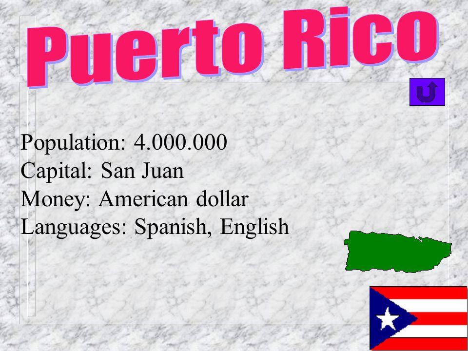 Population: 8.000.000 Capital: Santo Domingo Money: el peso Languages: Spanish(official), Creole