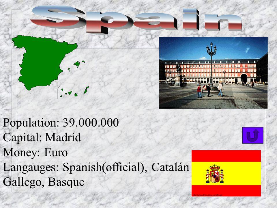 Population: 5.000.000 Capital: Asunción Money: guaraní Langauges: Spanish(official), Guaraní