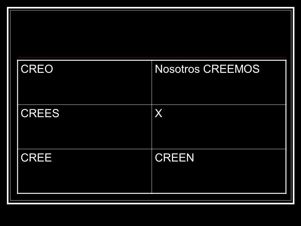 CREONosotros CREEMOS CREESX CREECREEN