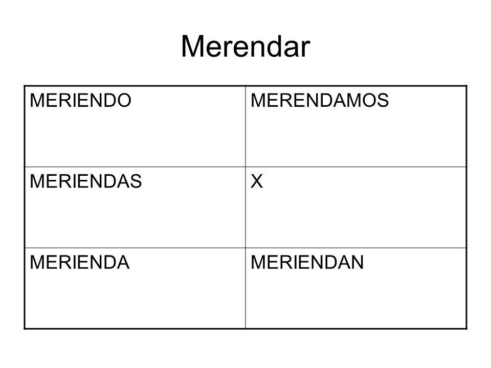 Merendar MERIENDOMERENDAMOS MERIENDASX MERIENDAMERIENDAN