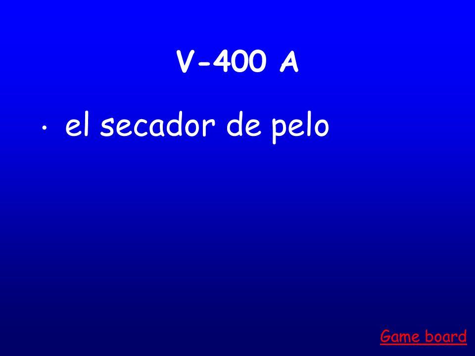 V-300 A el alimiento Game board