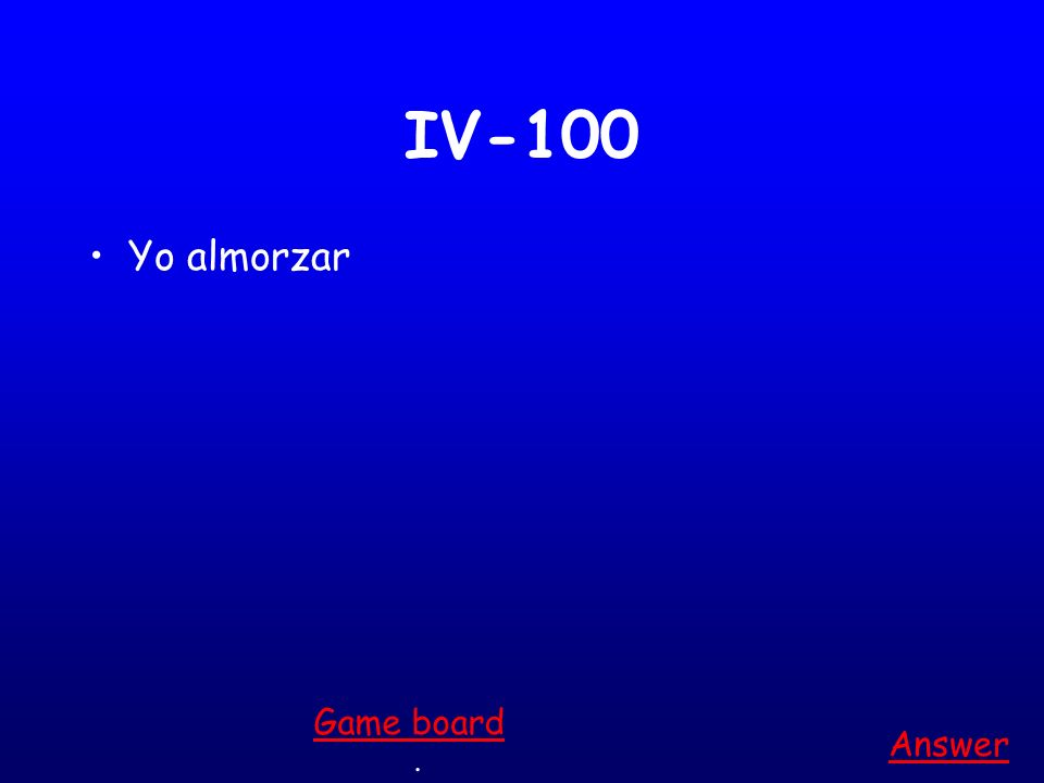 III-500 Tu encontrar Answer. Game board