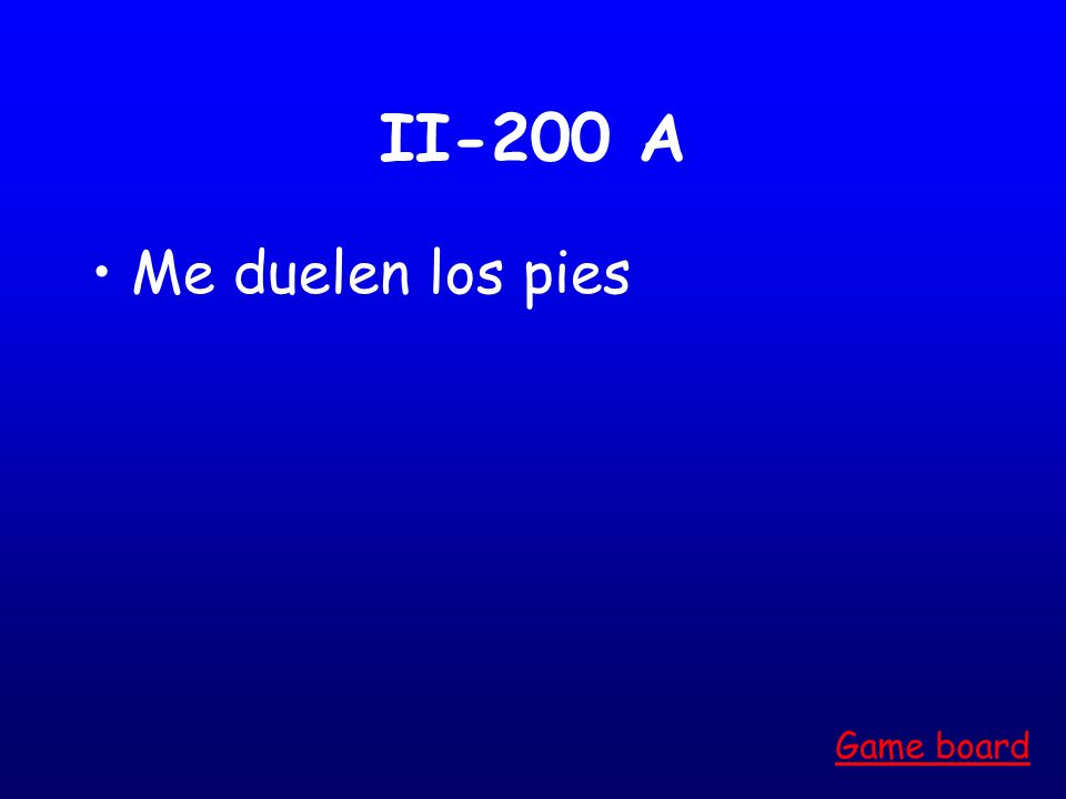 II-100 A Le duelen las rodillas Game board
