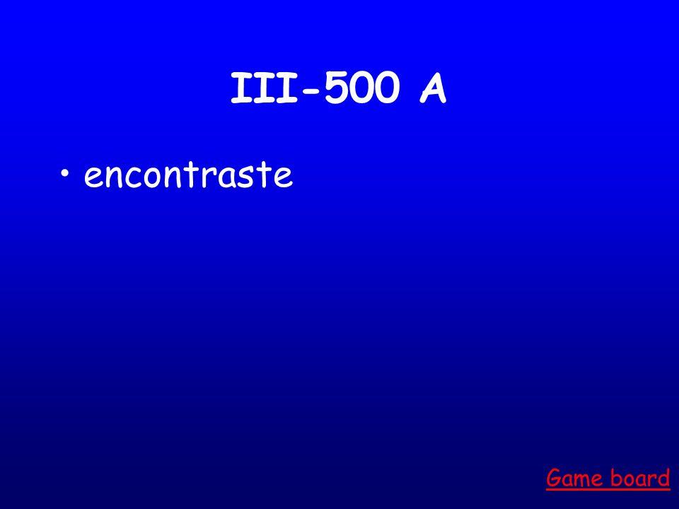III-400 A Esquió Game board