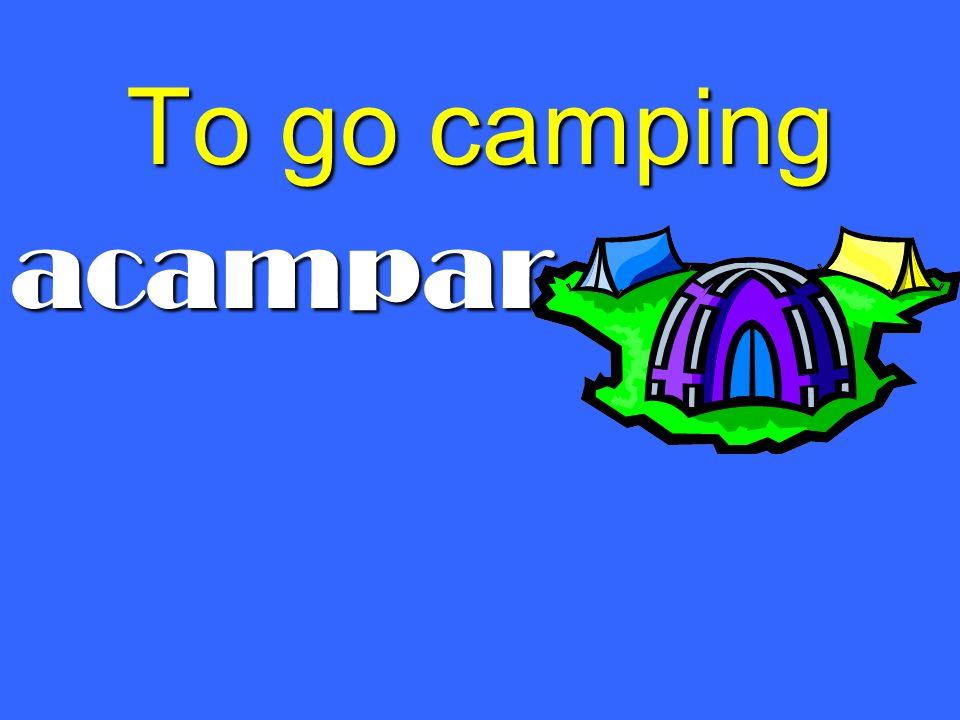 To go camping acampar