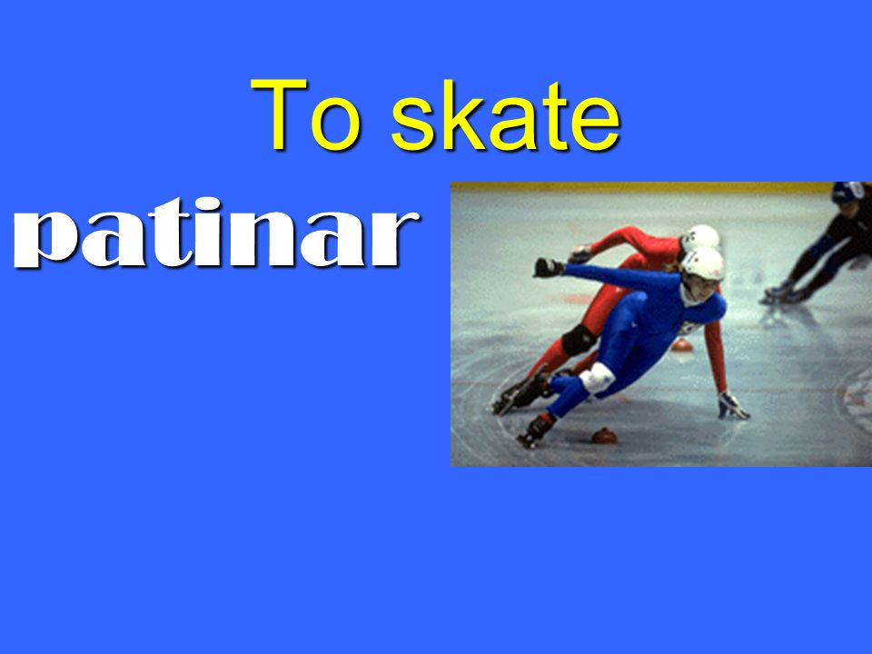 To skate patinar