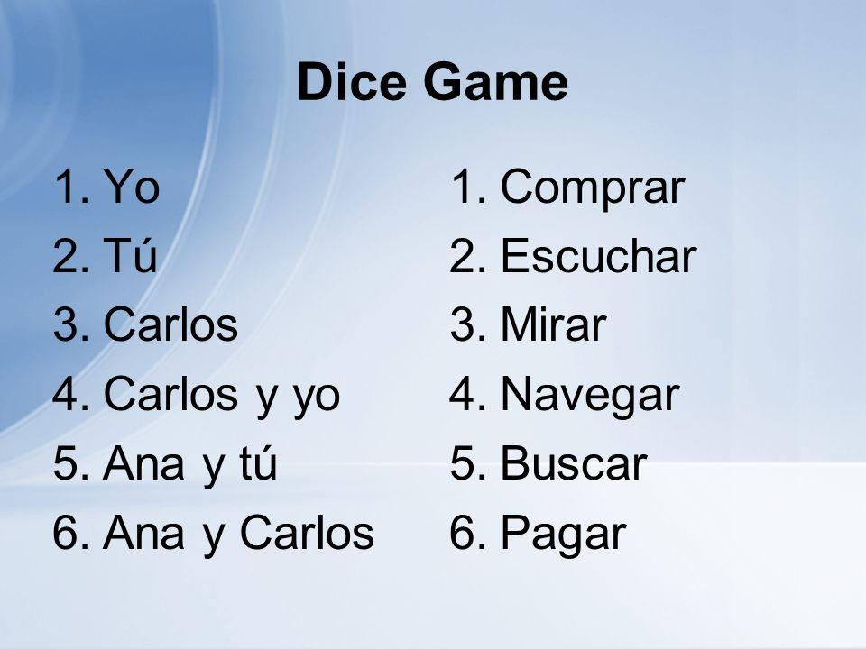 El Orden del Día Verbos de –ar AP paragraph completion Yo puedo… Identify subjects and subject pronouns of a sentence.