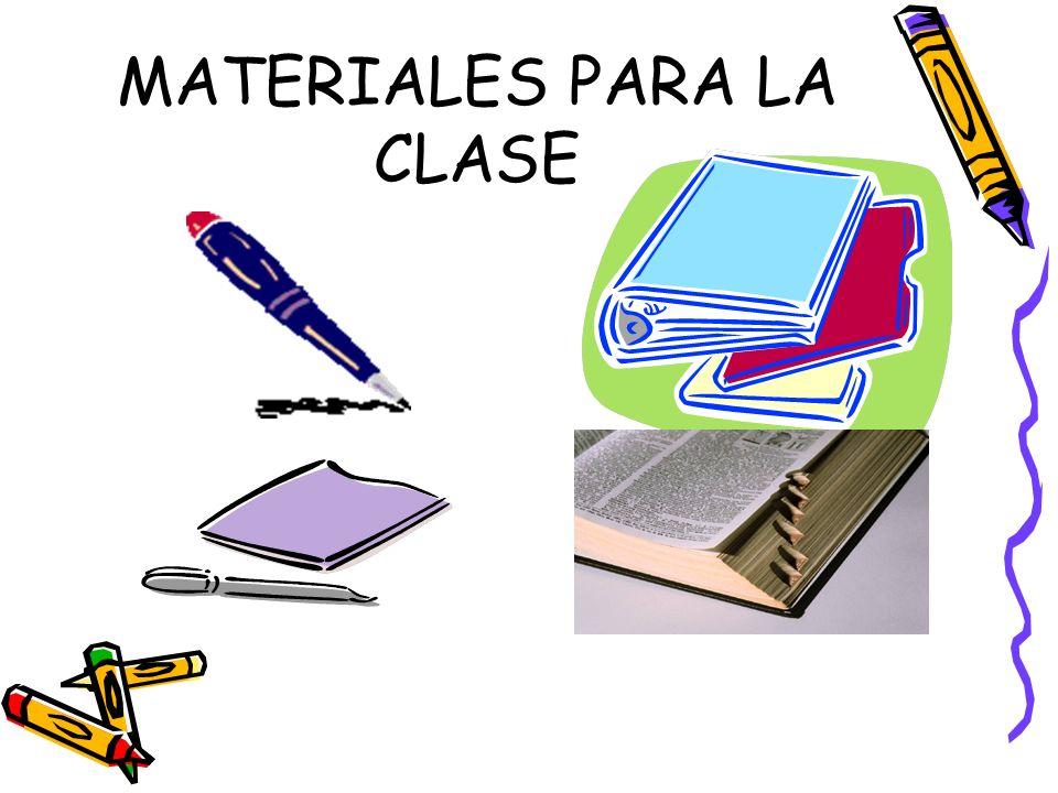 MATERIALES PARA LA CLASE
