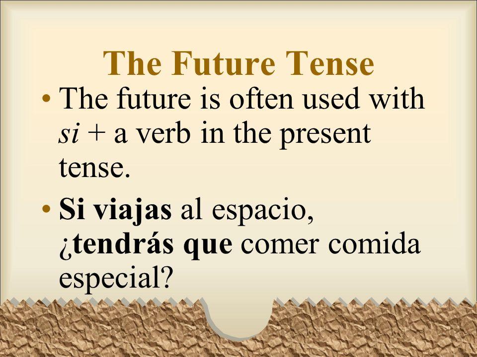 The Future Tense Habrá muchas oportunidades para usar el español en mi carrera.