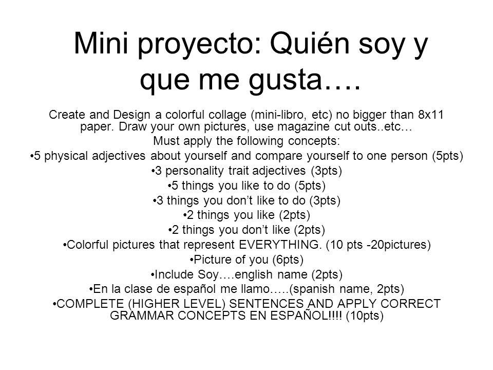 Mini proyecto: Quién soy y que me gusta….