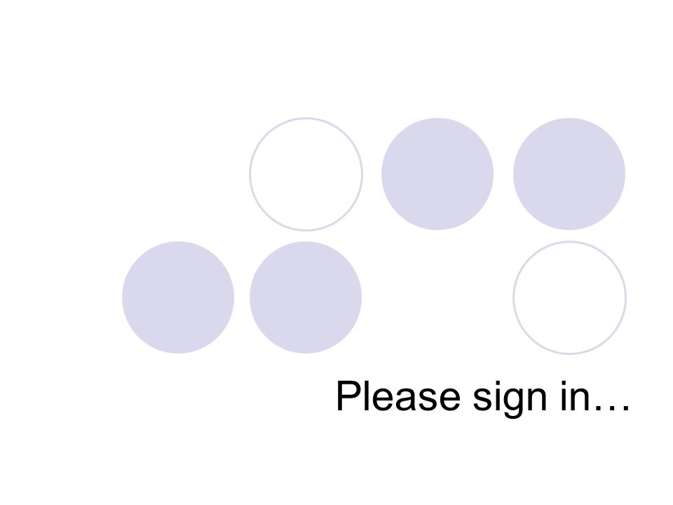 Please sign in…