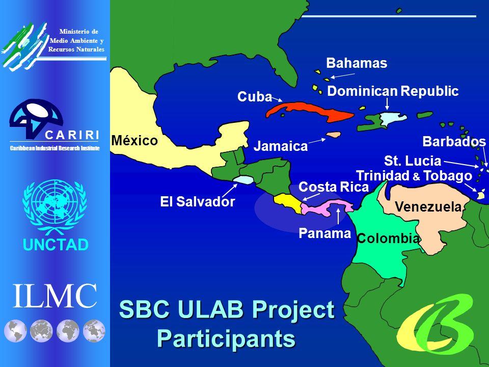 ILMC UNCTAD Ministerio de Medio Ambiente y Recursos Naturales Caribbean Industrial Research Institute CRRIIA Venezuela Trinidad & Tobago Colombia México Panama Costa Rica Dominican Republic El Salvador St.
