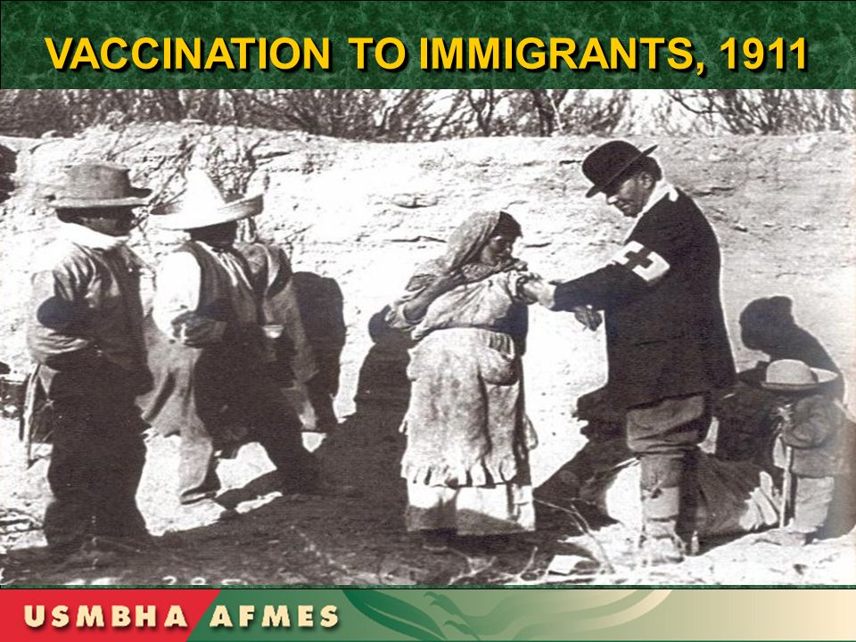VACCINATION TO IMMIGRANTS, 1911