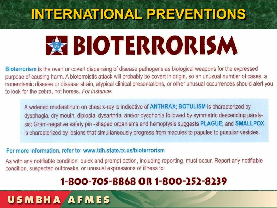 INTERNATIONAL PREVENTIONS