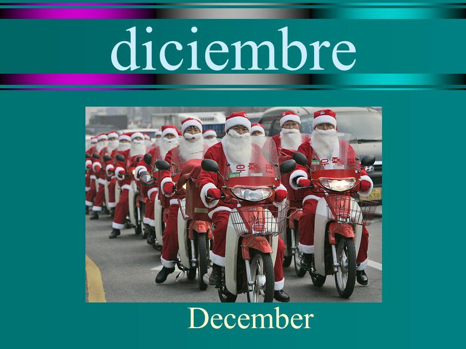 diciembre December