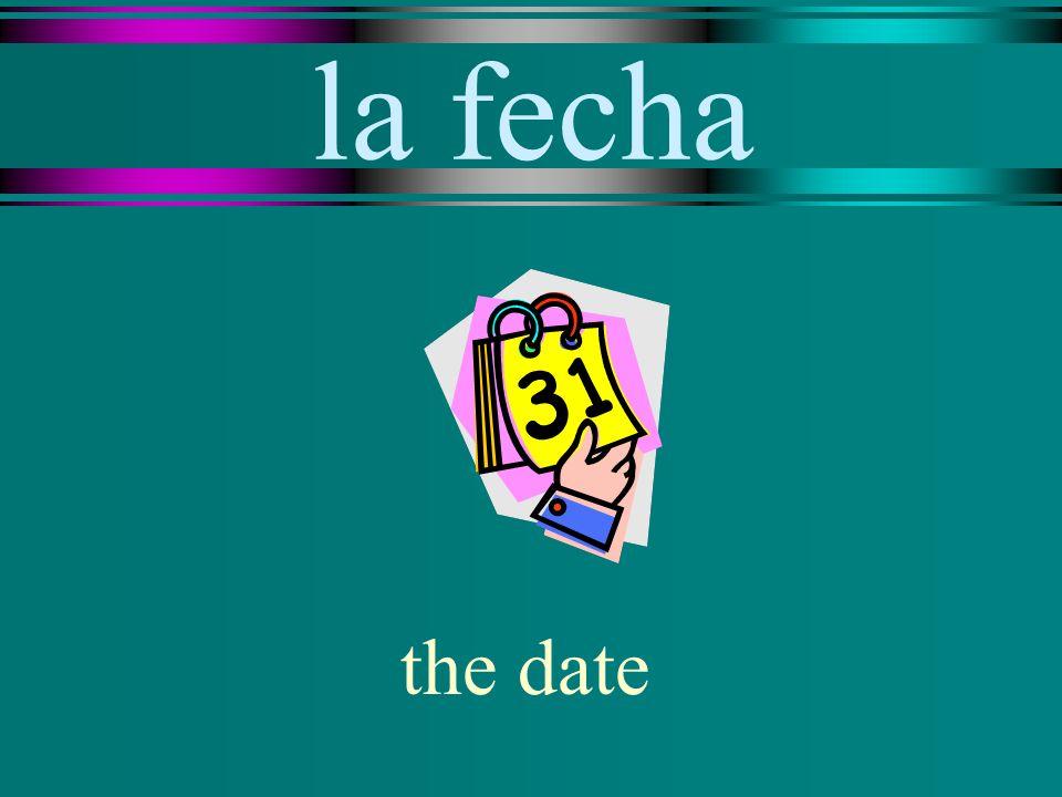 la fecha the date