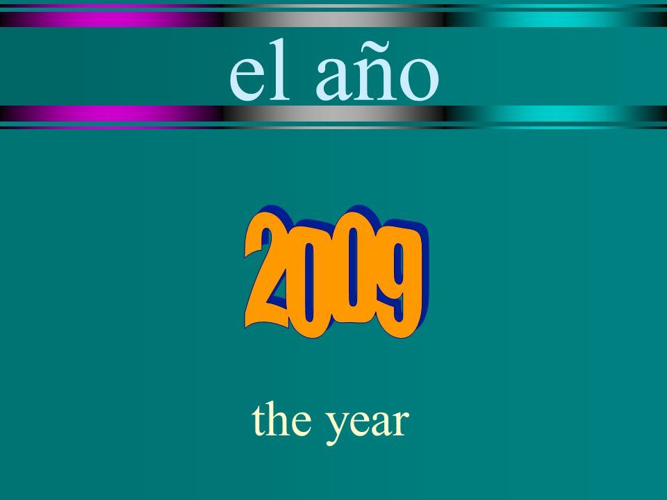 el año the year
