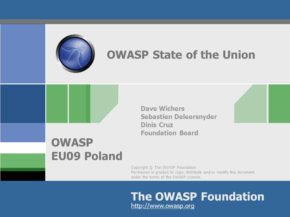 OWASP AppSecEU09 Poland Industry - Accomplishments 1.Has submitted RFC feedback for both British and US/NIST 800-53 rev 3 standards 2.