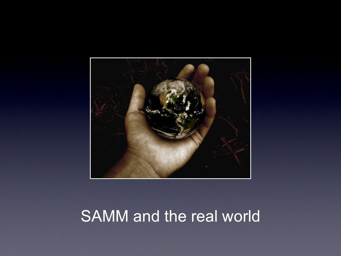 SAMM and the real world
