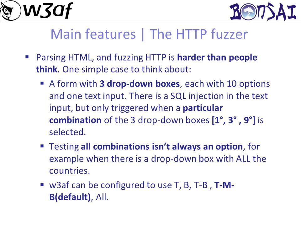 7 Main features | The HTTP fuzzer Parsing HTML, and fuzzing HTTP is harder than people think.