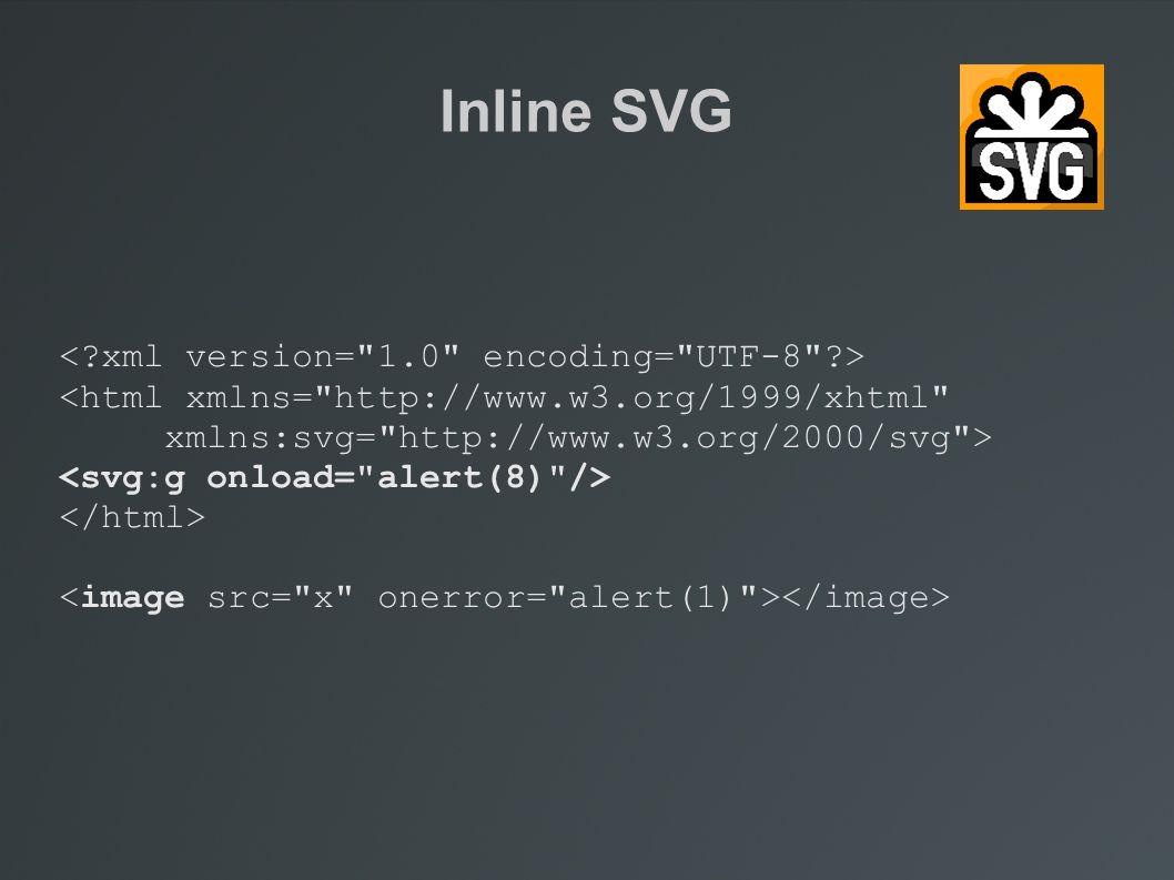 Inline SVG <html xmlns=