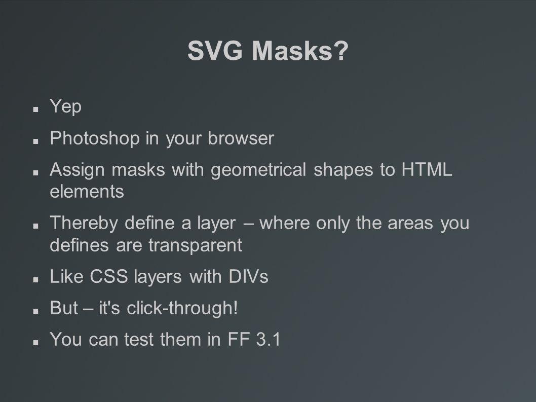 SVG Masks.