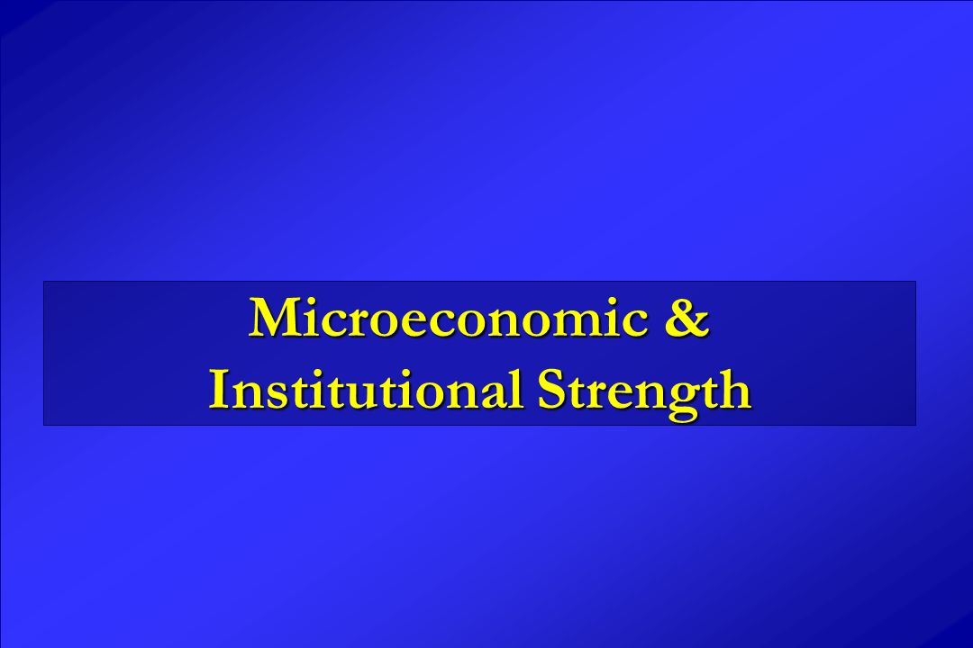 Microeconomic & Institutional Strength