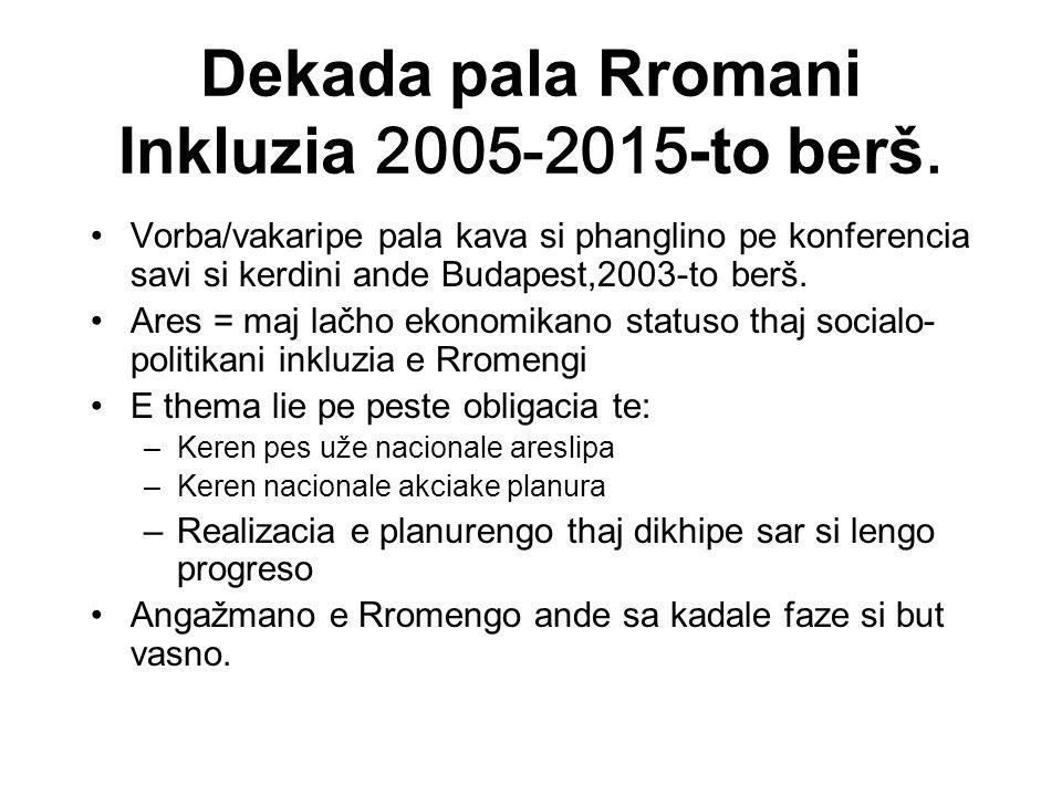 Dekada pala Rromani Inkluzia 2005-2015 -to berš.