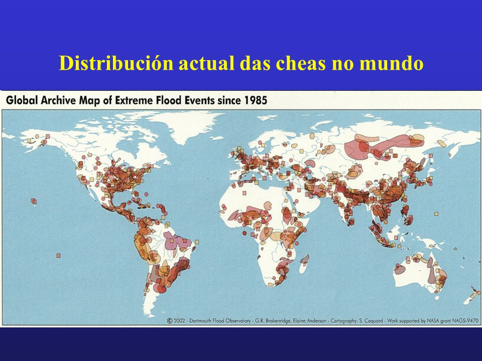 Distribución actual das cheas no mundo