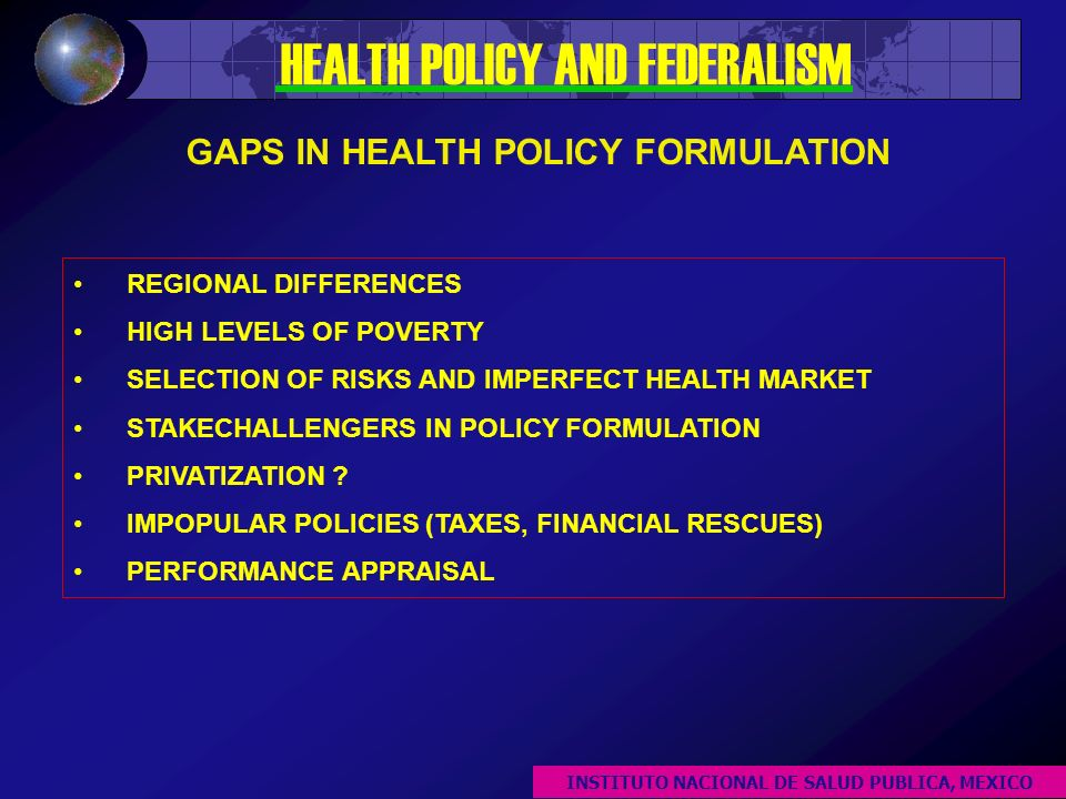 REGIONAL DIFFERENCES HIGH LEVELS OF POVERTY SELECTION OF RISKS AND IMPERFECT HEALTH MARKET STAKECHALLENGERS IN POLICY FORMULATION PRIVATIZATION .