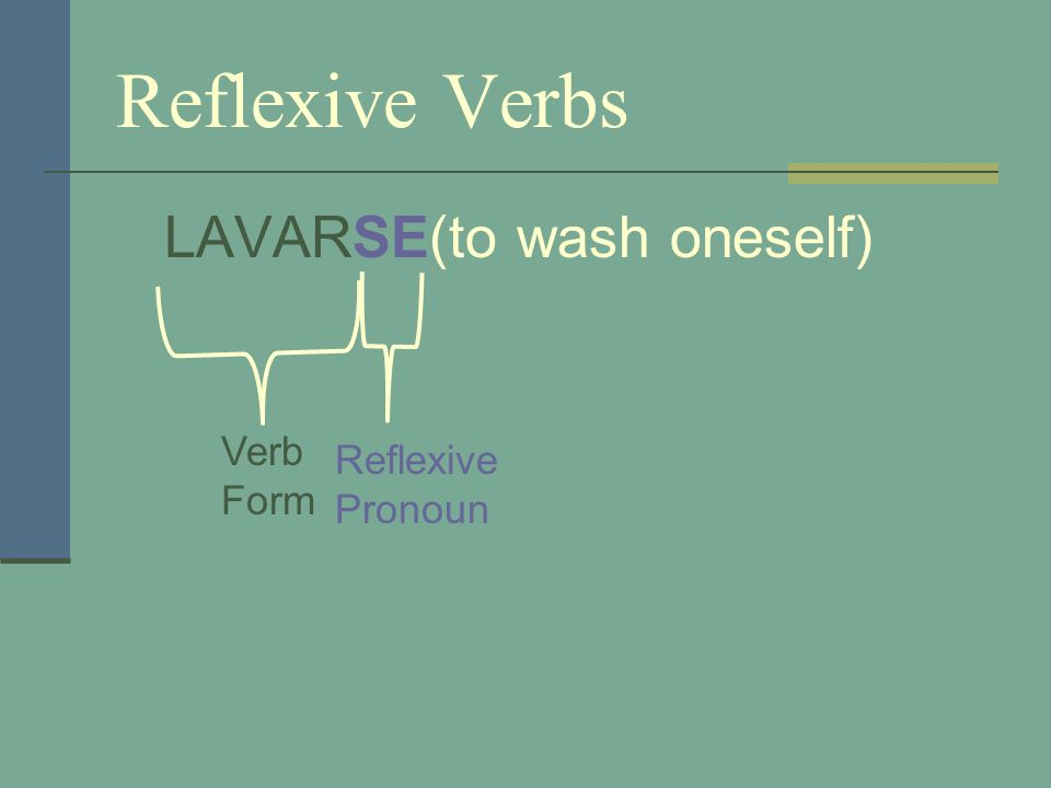When a verb is reflexive, the infinitive ends in