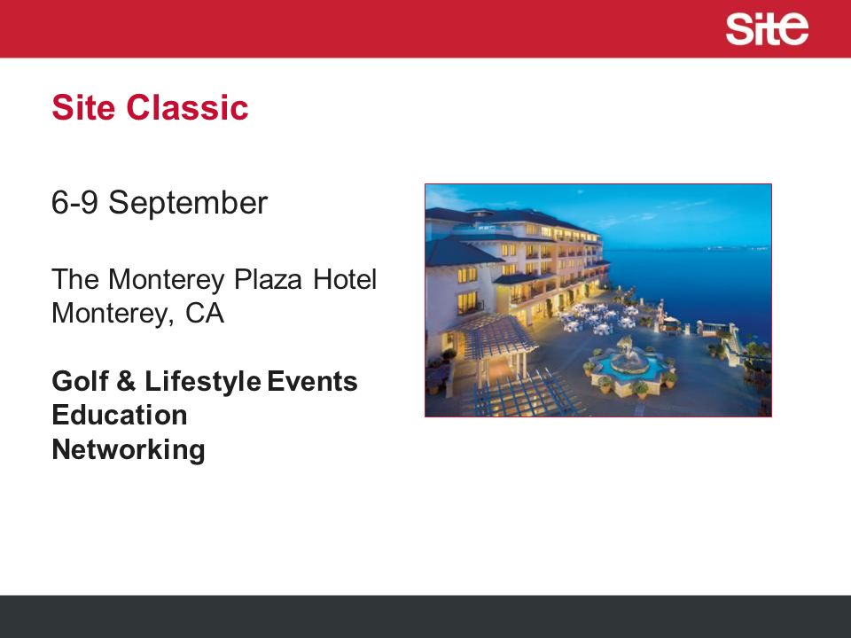 Site Nite, North America 10 October Las Vegas, NV Encore Beach Club During the IMEX America Show