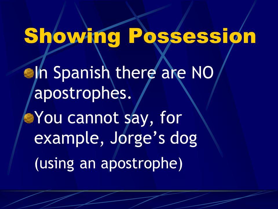 Possessive Adjectives ¿Son rubios los hermanos de Rafael? No, sus hermanos son pelirrojos.