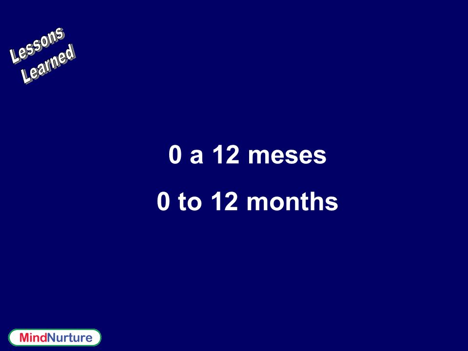 0 a 12 meses 0 to 12 months