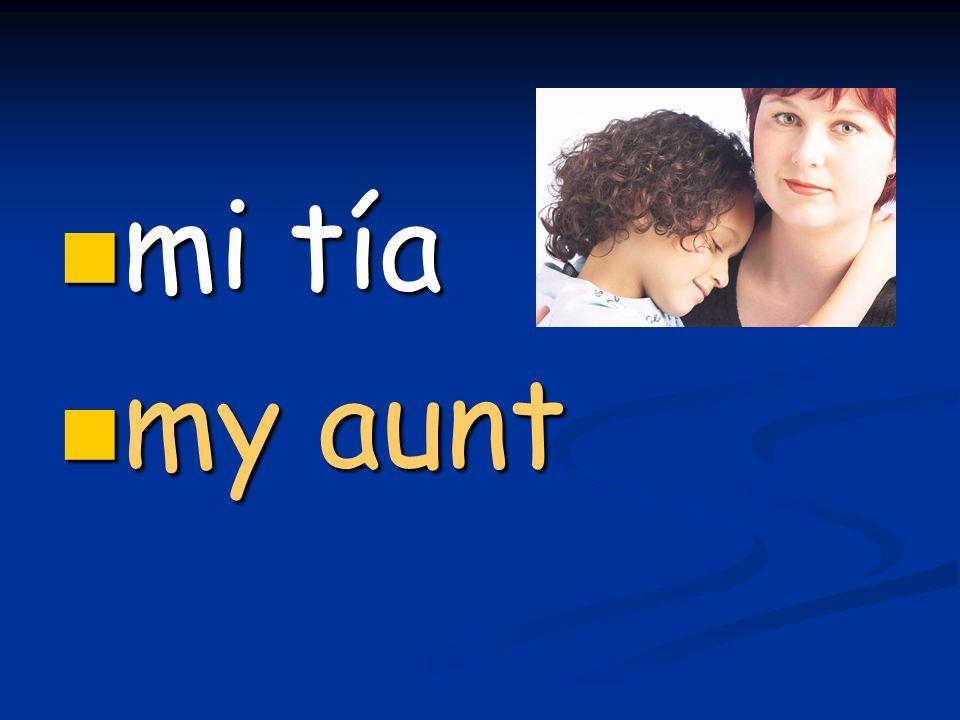 mi tía mi tía my aunt my aunt