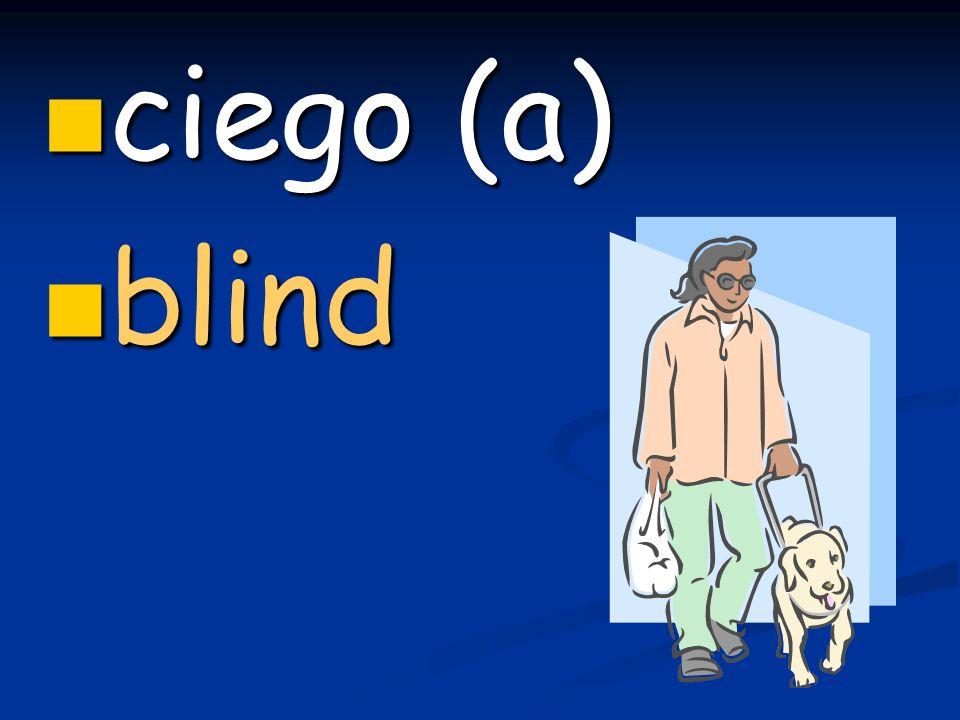 ciego (a) ciego (a) blind blind