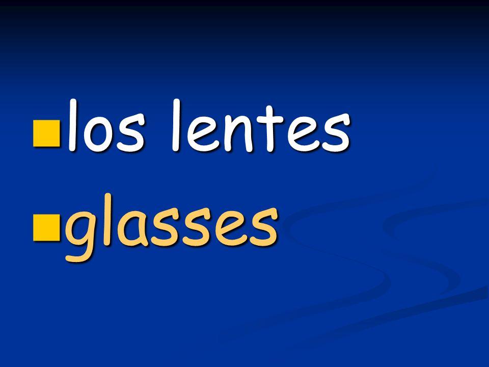 los lentes los lentes glasses glasses