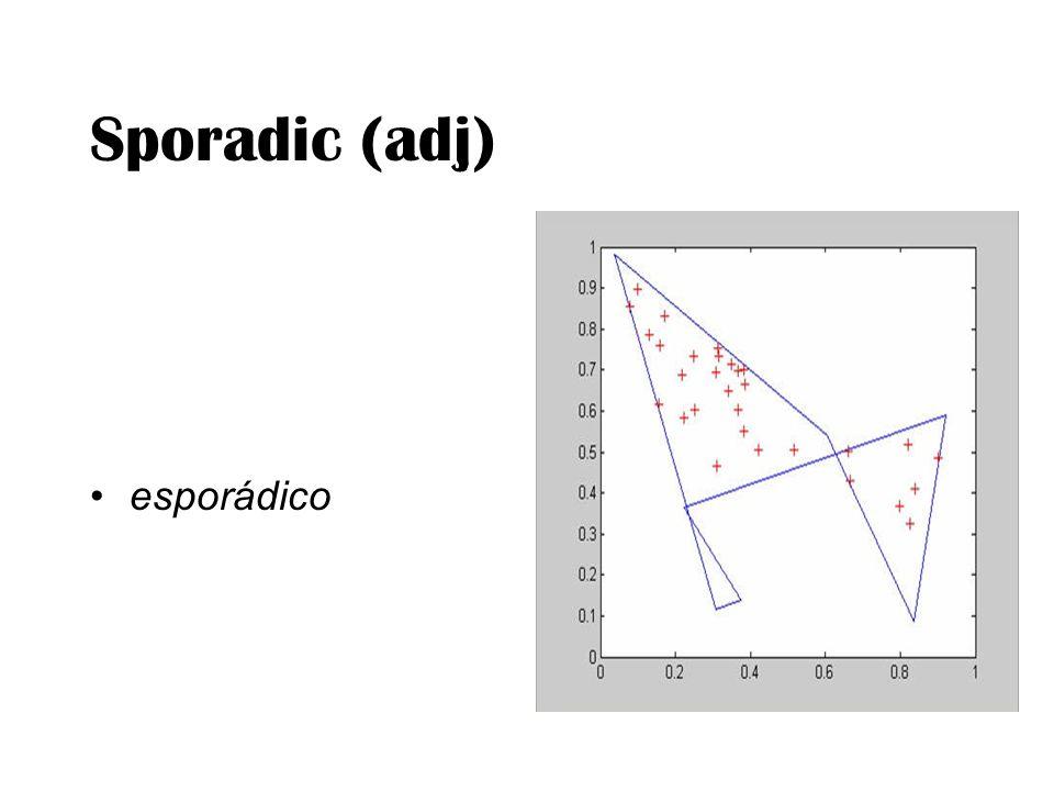 Sporadic (adj) esporádico