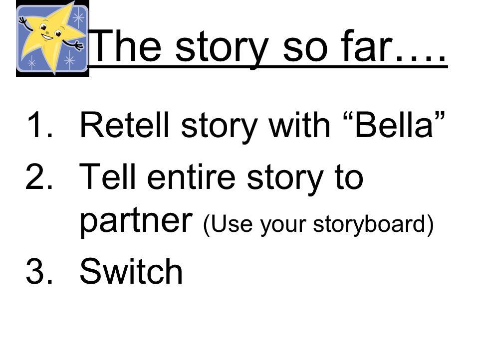 The story so far….