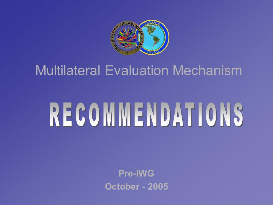 Multilateral Evaluation Mechanism Pre-IWG October - 2005