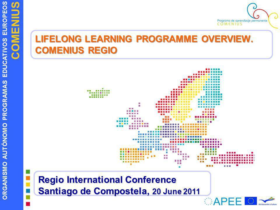 ORGANISMO AUTÓNOMO PROGRAMAS EDUCATIVOS EUROPEOS COMENIUS LIFELONG LEARNING PROGRAMME OVERVIEW. COMENIUS REGIO Regio International Conference Santiago